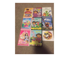 Kids DVD's Disney,Dora,Barbie