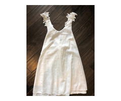 White summer dress size medium